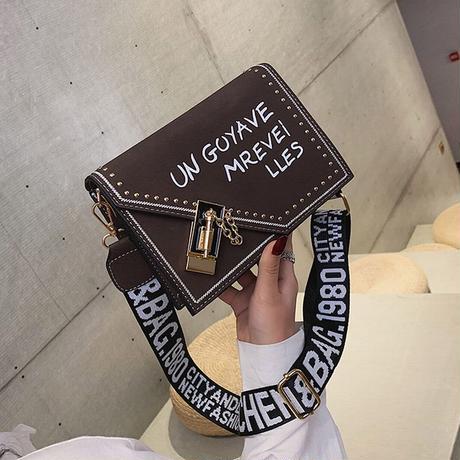 スクエアバッグ ショルダーバッグ ミニバッグ バッグル PUレザー 韓国ファッション メッセンジャーバッグ オールシーズン バッグ ショルダーストラップ カジュアル DTC-587759558074