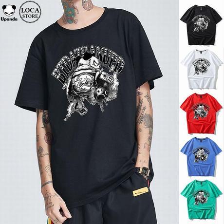 UPANDA 【5カラー】ユニセックス メンズ/レディース 半袖 Tシャツ パンダプリント 人気 インスタ ストリート系 (DCT-596394236911)