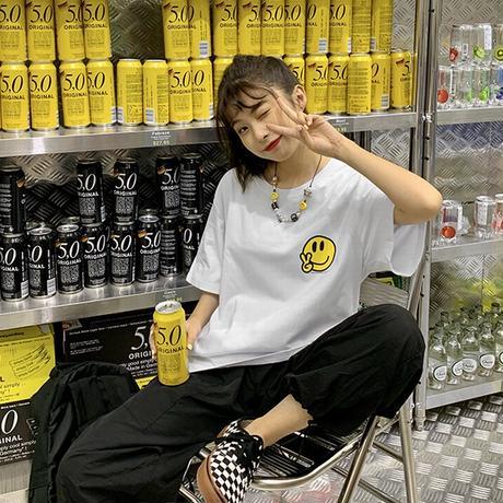 ユニセックス Tシャツ 半袖 メンズ レディース ピース スマイル ニコちゃんマーク スマイリーフェイス オーバーサイズ ストリート TBN-617314675651