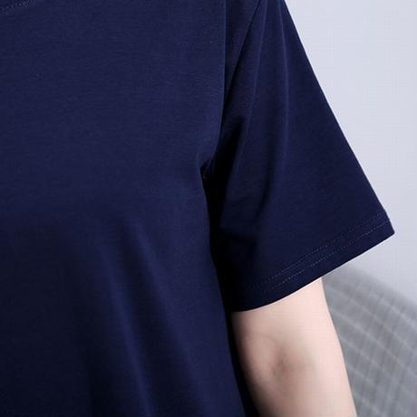 ワンピース 無地 韓国ファッション レディース バイカラー ラウンドネック ゆったりウエスト Aライン ハイウエスト 大人カジュアル 大人可愛い ガーリー 620381966166