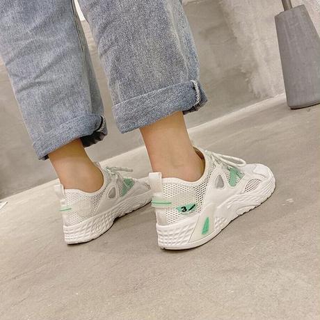 メッシュ スニーカー 韓国ファッション レディース スニーカー メッシュシューズ フラットシューズ 通気性 かわいい 歩きやすい  カジュアル 618311540884