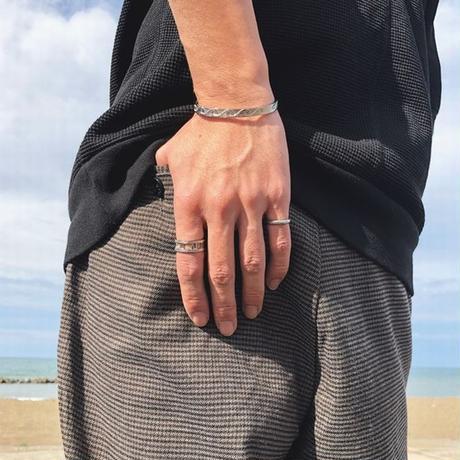 ※数量限定 ハワイアンジュエリー リング 指輪 リバーシブル メンズ レディース 金属アレルギー対応 ハワジュ プルメリア スクロール ホヌ 亀 サージカル ステンレス PVD ropr02