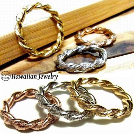 ハワイアンジュエリー リング 指輪 サージカルステンレス ロープ バンブー 竹 メンズ レディース ペア インスタ (grs8647)