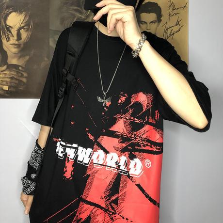 ユニセックス Tシャツ 半袖 メンズ レディース イレギュラーペイント オーバーサイズ 大きいサイズ ルーズ ストリート DTC-598611261064
