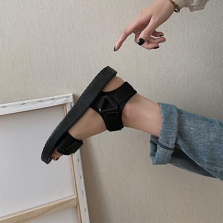 スポーツサンダル マジックテープ 22.5cm 23.0cm 23.5cm 24.0cm 24.5cm 25.0cm 韓国ファッション レディース スポサン 厚底 DTC-614035432908