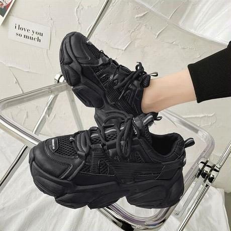 ダットスニーカー 厚底 22.0~25.0cm 厚底スニーカー スニーカー 韓国ファッション レディース シューズ カジュアル スポーツ 歩きやすい 疲れない DTC-636930811679