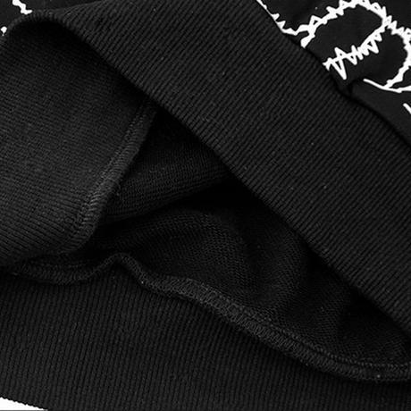 ユニセックス プルオーバー パーカー メンズ レディース ハンド ××マーク オーバーサイズ ルーズ 大きいサイズ ストリート TBN-626319593626