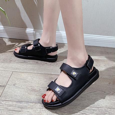 スポーツサンダル スポサン 3.5cm ベルト マジックテープ 韓国ファッション レディース サンダル フラットサンダル フラット かわいい 歩きやすい 617246207687