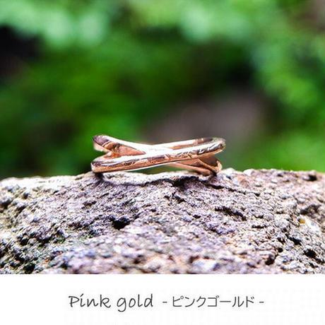 ※数量限定 ハワイアンジュエリー リング 指輪 クロス スクロール 波 金属アレルギー対応 サージカルステンレス PVD シルバー ゴールド ピンクゴールド インスタ ropr07