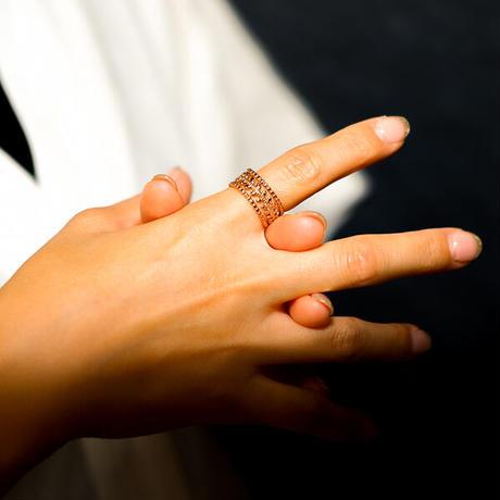 ボヘミアンリゾート リング イヤカフ 金属アレルギー対応 2Way 指輪 ステンレス メンズ レディース シルバー ゴールド ピンクゴールド インスタ mnk21