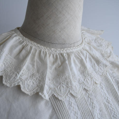 Antique Pierrot Collar Lace Blouse