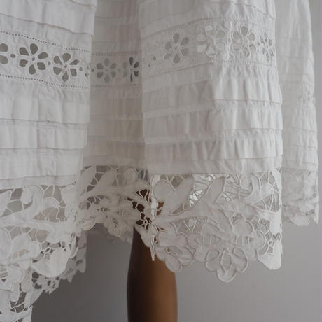 Antique White Cotton Dress