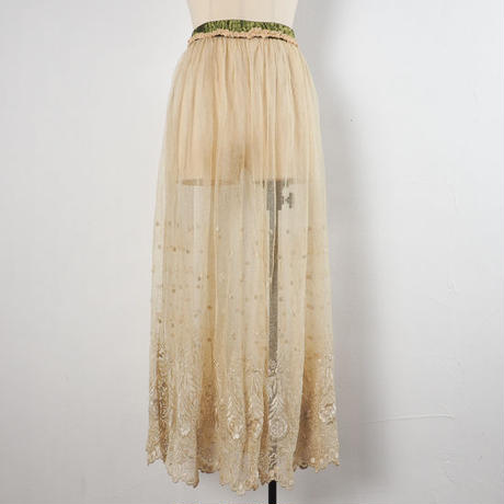 antique 1900s lace skirt