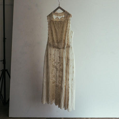 Antique Embroidered Flower Dress