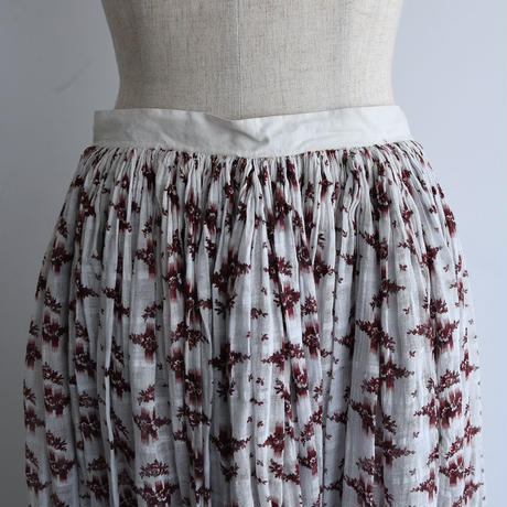 Antique Victorian Floral Skirt
