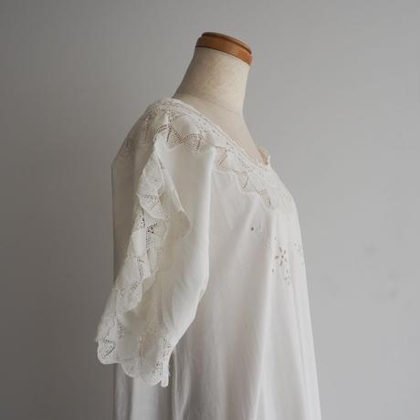 Antique Lace Cotton Dress