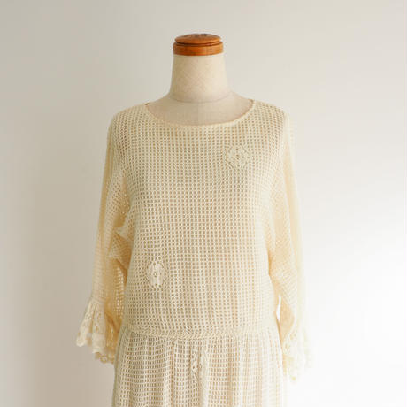 1960s Crocheted Lace Dress