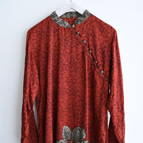 vintage Beaded Flower Chinese Dress