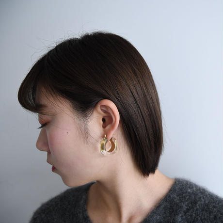 vintage Lucite Gold Earrings