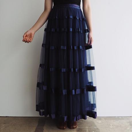 1950s Navy Blue Tulle Skirt
