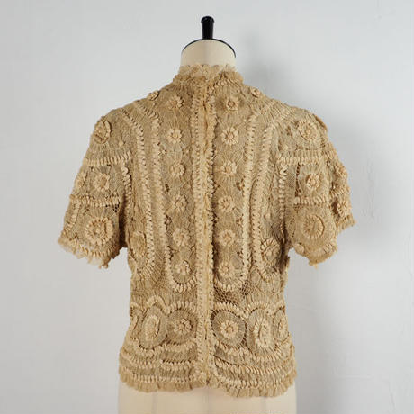 antique 1900s hand lace top