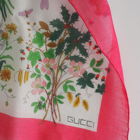 vintage GUCCI Cotton Scarf