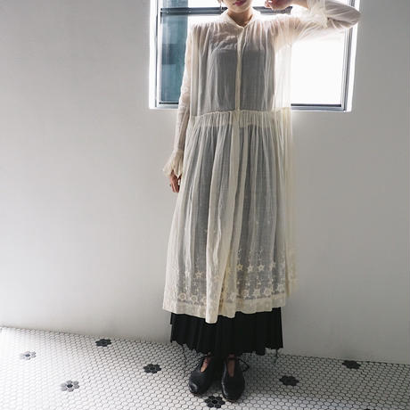 antique 1920s French Handmade Cotton Dress