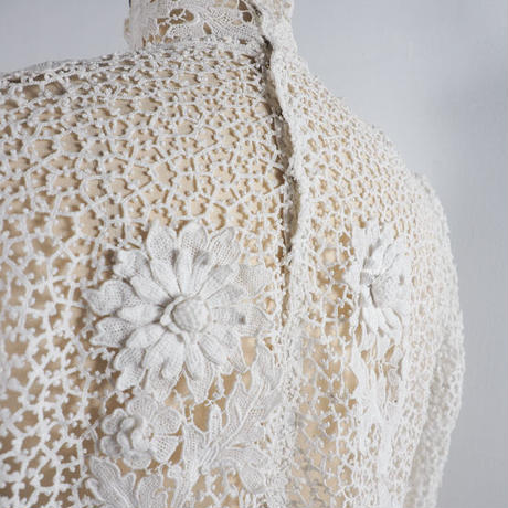 vintage 1940s Lace Applique Top