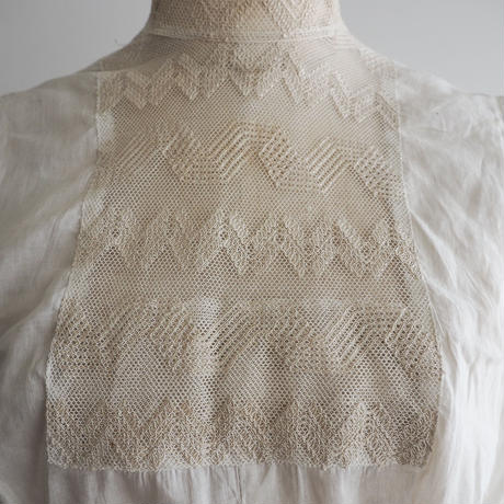 Antique High Neck Lace Bib