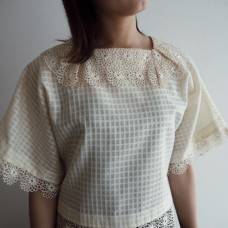vintage 1980s Lemon Blouse