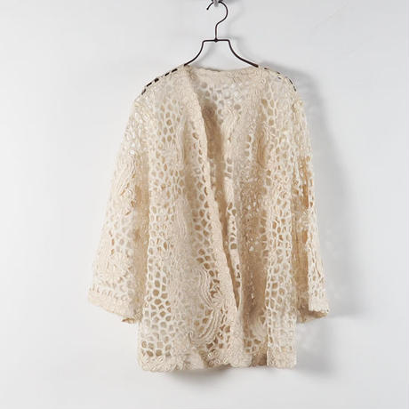vintage 1960s Cutout Lace Jacket