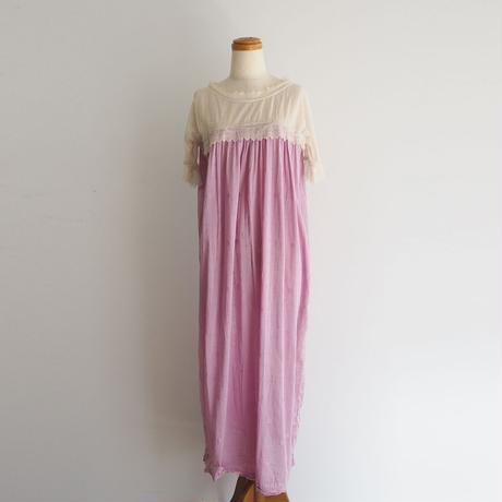 antique 1920s Lilac Dot  Lace Dress