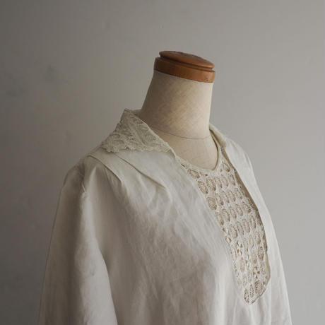 1920s Linen Lace Dress