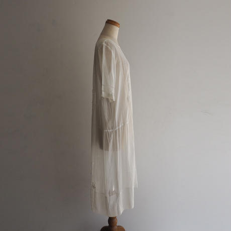 1920s White Flower Dress