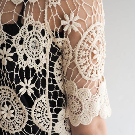 vintage Handmade Crochet Lace Top
