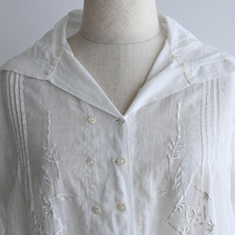 1910s Sailor Cotton Blouse