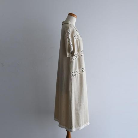 1950s Linen Lace Dress