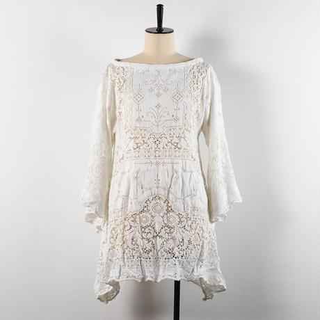 vintage 1940s Lace Tunic