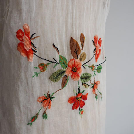 1960s Handmade Floral Sheer Dress