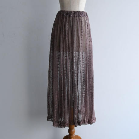 1970s Hand Crochet Lace Skirt
