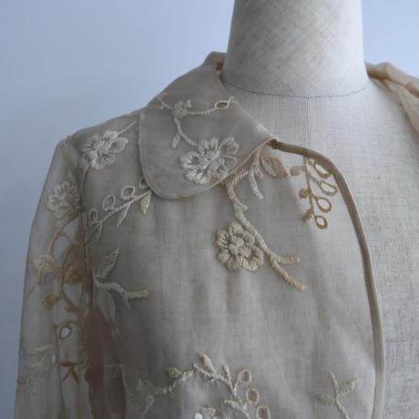 1940s Floral Silk Shirt