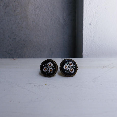antique 1920s  Micro Mosaic Earring