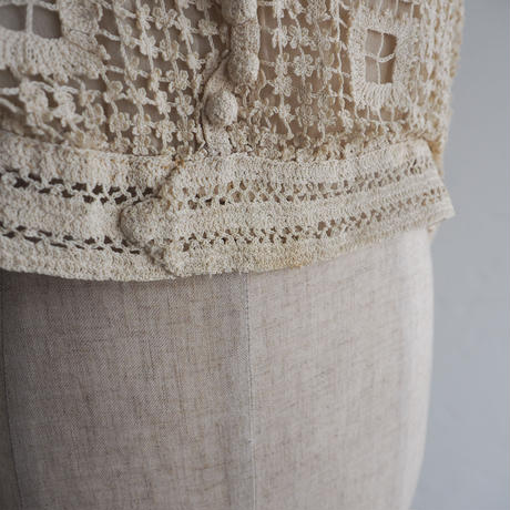 Antique Crochet Lace Top