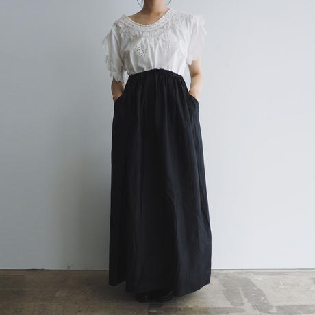 1990s Silk Gather Skirt