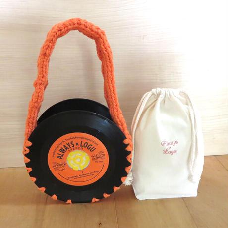 本物のレコードで出来たバッグ「bagu 」 アップサイクル レコードバッグ  AB-104COR
