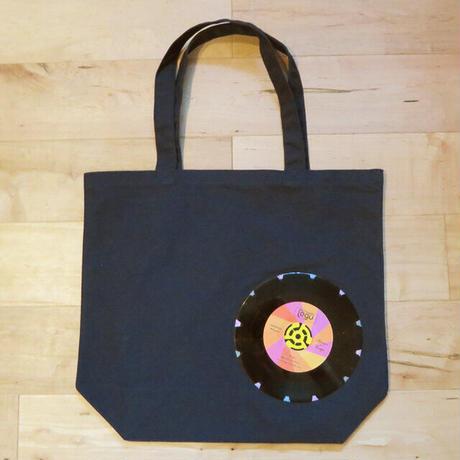 本物のレコードを使ったバッグ「bagu」ML 大きめトートバッグ ネイビー TOML-102NV