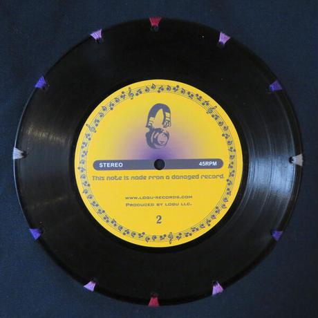 本物のレコードを使ったショルダーバッグ「bagu」ミッドナイトブルー  ST-009N