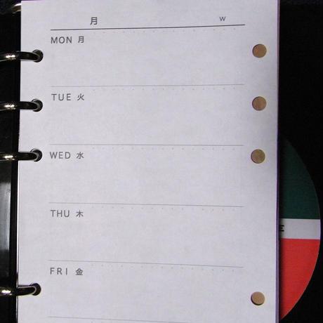 スライド手帳 (週間 レフト式リフィル30枚)