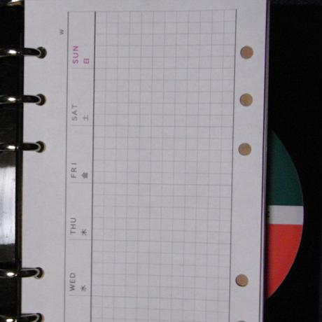 スライド手帳 (週間 横置きバーチカルリフィル30枚)