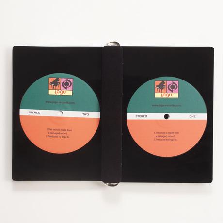 本物のレコードでできたノート Logu Recording Note アップサイクル(UP cycle)  RN-001B